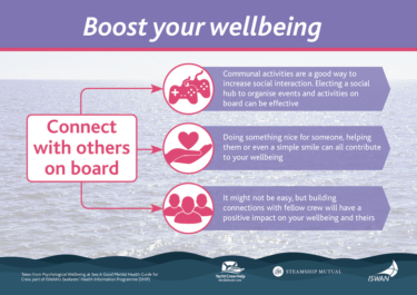 Boost your wellbeing connect with others on board yacht crew help