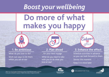 Boost your wellbeing do more of what makes you happy yacht crew help