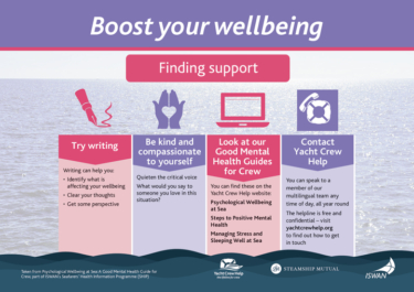 Boost your wellbeing finding support yacht crew help